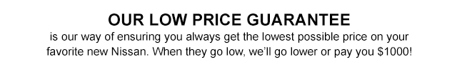 Our Low Price Guarantee
