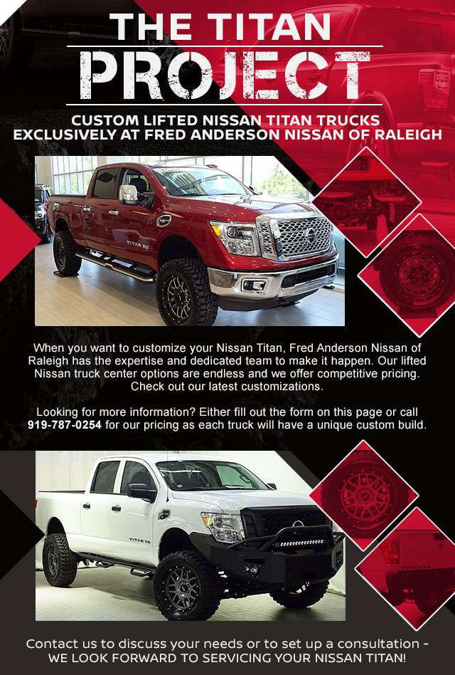 nissan titan project fred anderson nissan raleigh nc durham. Black Bedroom Furniture Sets. Home Design Ideas