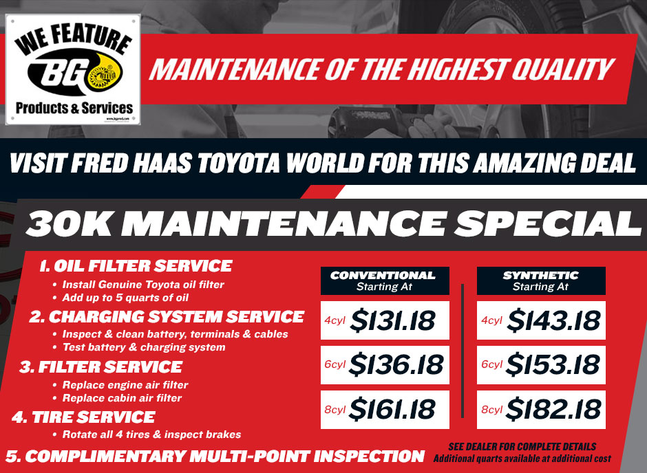 auto service center spring tx fred haas toyota world. Black Bedroom Furniture Sets. Home Design Ideas